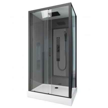 Cabine de douche rectangle 217x110x80cm -  ASHY GREY
