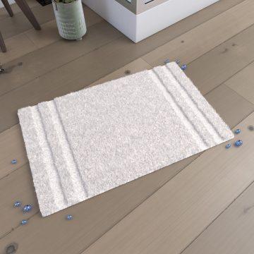 Tapis de bain 80x50cm Antidérapant et 100% coton - MAGNIFIC ECRU