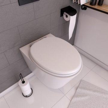 Abattant WC - MDF et Double frein de chute - SOFT WHITE