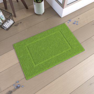 Tapis de bain 60x90cm Antidérapant et 100% Coton - VELOUTE VERT