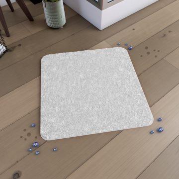 Tapis de bain 60x60cm Antidérapant et en Microfibre - SUBTIL BLANC