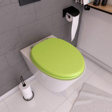 Abattant WC - MDF et Double frein de chute - SOFT GREEN