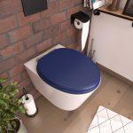 Abattant pour WC BLEU - en MDF et charnières en métal - BLUE