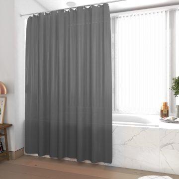 Rideau de douche et baignoire - 180x200 - Polyester - GRIS