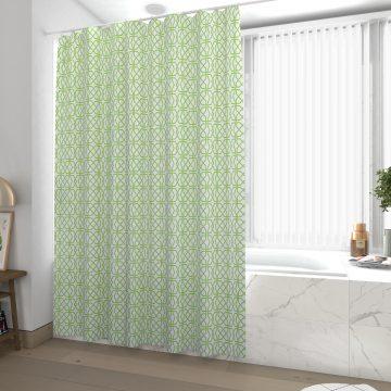 Rideau de douche et baignoire - 180x200 - Polyester - FORME VERT