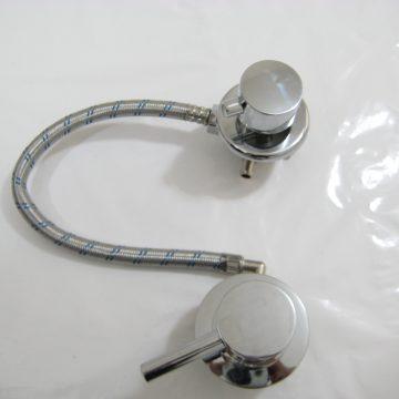 Robinet mitigeur universel douche mécanique avec inverseur 3 positions pour entraxe de 10cm à 45cm