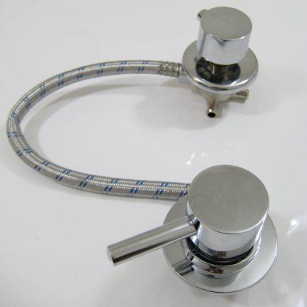 Robinet mitigeur universel douche mécanique avec inverseur 4 positions pour entraxe de 10cm à 45cm