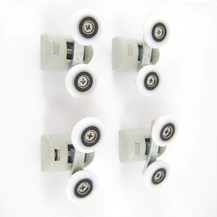 Roulettes doubles diamètre 23mm (par lot de 4 roulettes).