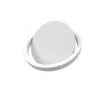Poubelle à couvercle oscillant capacité 5L - WHEELTOP BLANC MAT