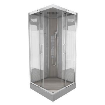 Cabine de douche SHACKY SQUARE 90 carrée 90x90x215cm