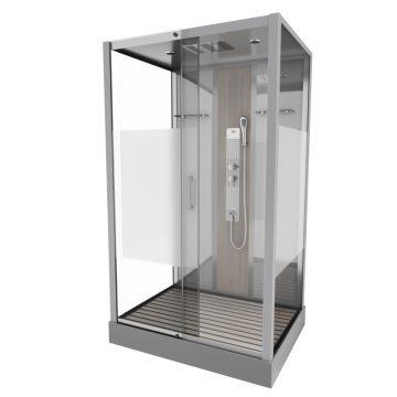 Cabine de douche rectangle 85x115x215cm - SHACKY RECTANGLE