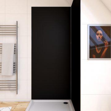 Panneau mural de douche NOIR en aluminium - 90 x 210 cm - WALL'IT NOIR 90