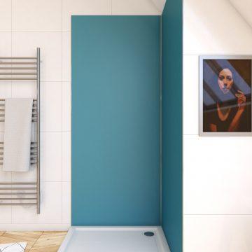 Panneau mural de douche BLEU en aluminium - 90 x 210 cm - WALL'IT BLEU 90