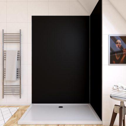 Panneau mural de douche NOIR en aluminium - 120 x 210 cm - WALL'IT NOIR 120