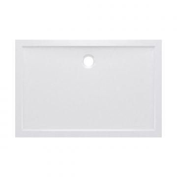 RECEVEUR DE DOUCHE A POSER EXTRA-PLAT EN ACRYLIQUE BLANC RECTANGLE - 120x80cm - BAC DE DOUCHE