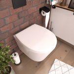 Abattant pour WC blanc - Thermodur avec charnières en plastique déclipsable - SIMPLE WHITE