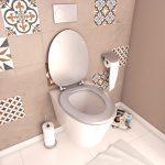 Abattant WC - en MDF avec charnières en métal réglables - WHISY SILVER