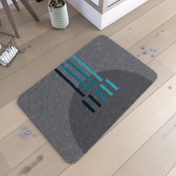 Tapis de bain 90x60cm Antidérapant et en Acrylique - MONDO GRIS