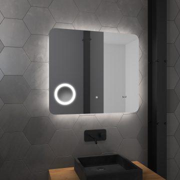 Miroir salle de bain LED auto-éclairant 80x70cm - ATMOSPHERE PLUS