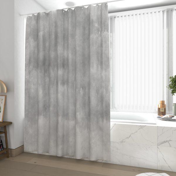 Rideau de douche et baignoire - 180x200 - Polyester - BETON