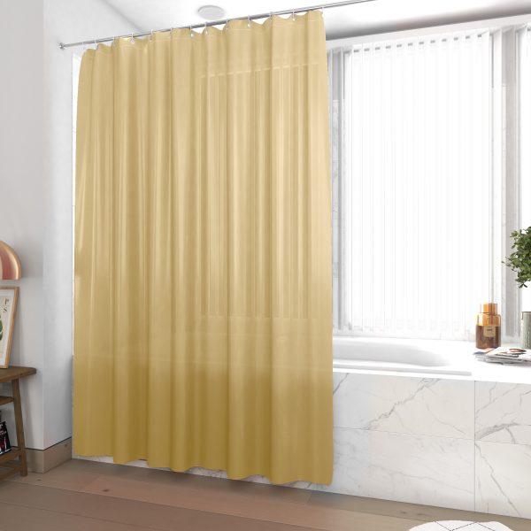 Rideau de douche et baignoire - 180x200 - Polyester - SABLE