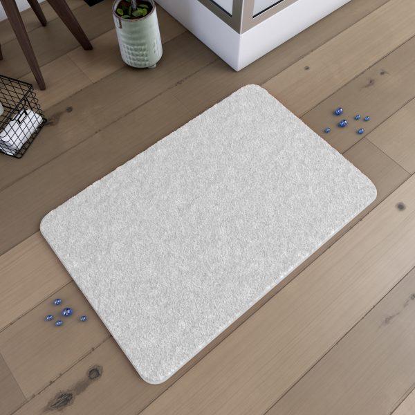 Tapis de bain 60x90cm Antidérapant et en Microfibre - SUBTIL BLANC