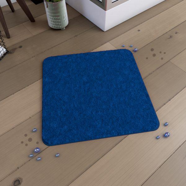 Tapis de bain 60x60cm Antidérapant et en Microfibre - SUBTIL BLEU