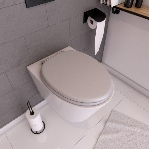 Abattant WC - MDF et Double frein de chute - SOFT GREY