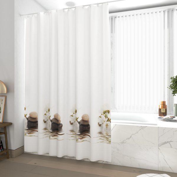 Rideau de douche et baignoire - 180x200 - Polyester Haute qualité - INNOCENCE