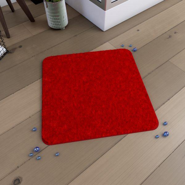 Tapis de bain 60x60cm Antidérapant et en Microfibre - SUBTIL ROUGE