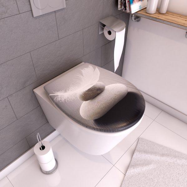 Abattant WC - Thermodur et Double frein de chute - PENCIL