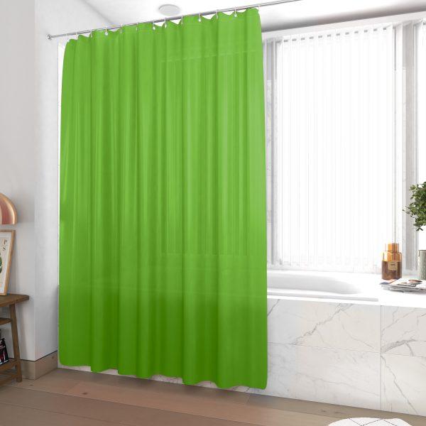 Rideau de douche et baignoire - 180x200 - Polyester - VERT LIME
