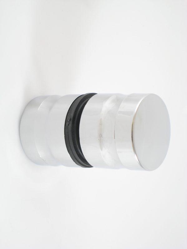 Poignée ronde chromée