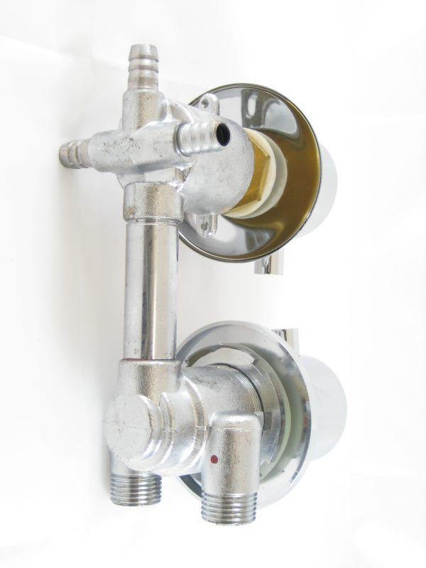 Robinet mitigeur douche thermostatique avec inverseur 3 positions
