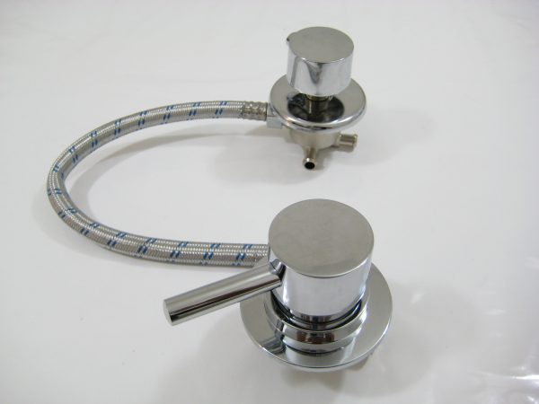 Robinet mitigeur universel douche mécanique avec inverseur 2 positions pour entraxe de 10cm à 45cm