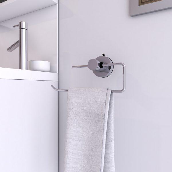 Porte serviette a ventouse pour salle de bains-support serviette-sans clou ni vis