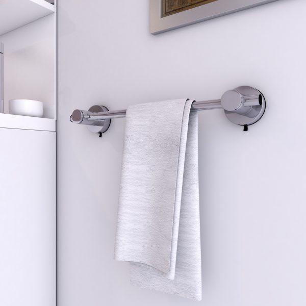 Porte serviette ventouse pour salle de bains-support serviette-sans clou ni vis syteme vide d'air