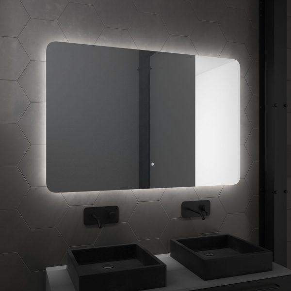 Miroir salle de bain LED auto-éclairant ATMOSPHERE 120x80cm