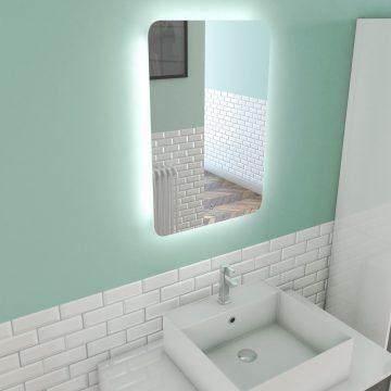 Miroir salle de bain LED auto-éclairant ATMOSPHERE 40x60cm