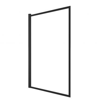Pare baignoire pivotant - profiles noir mat - dim: 130x75cm - verre transparent 4mm - CONTOURING