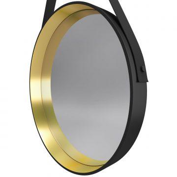 Miroir salle de bain rond type barbier - diamètre 50cm - BARBER GOLD