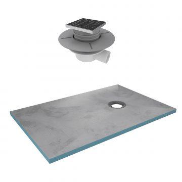 Bac receveur de douche à carreler 140x90cm recoupable sur mesure + bonde horizontale - RAINY