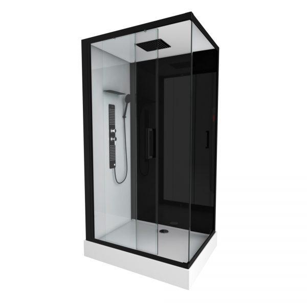 Cabine de douche rectangle 110x80x215cm - DUALITY RECTANGLE