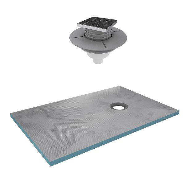 Bac receveur de douche à carreler 140x90cm recoupable sur mesure + bonde verticale - RAINY