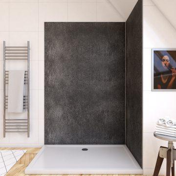 Panneau mural de douche finition Pierre en composite pierre et resine - 120 x 210 cm