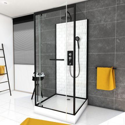 Cabine de douche carrée 90x90x230cm à motif carreaux de métro - UNDERGROUND SQUARE 90