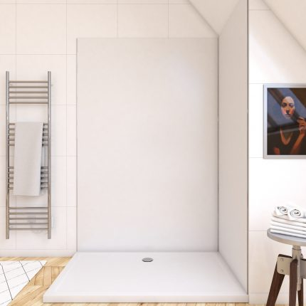 Panneau mural de douche BLANC en aluminium - 120 x 210 cm - WALL'IT BLANC 120