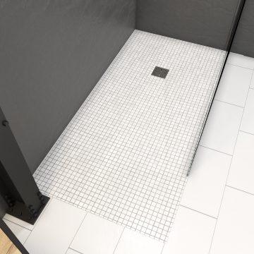 Bac receveur de douche a carreler 160x90 cm recoupable sur mesure pour douche a l'italienne
