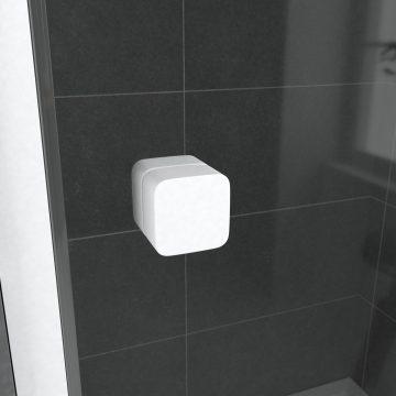 Paroi porte de douche Coulissante blanc 100x185cm - extensible - WHITY slide 100