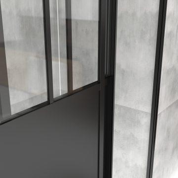 Pack paroi porte de douche 140x200cm + receveur 140x80 cm - WORKSHOP SLIDING 120 + WHITENESS140-80
